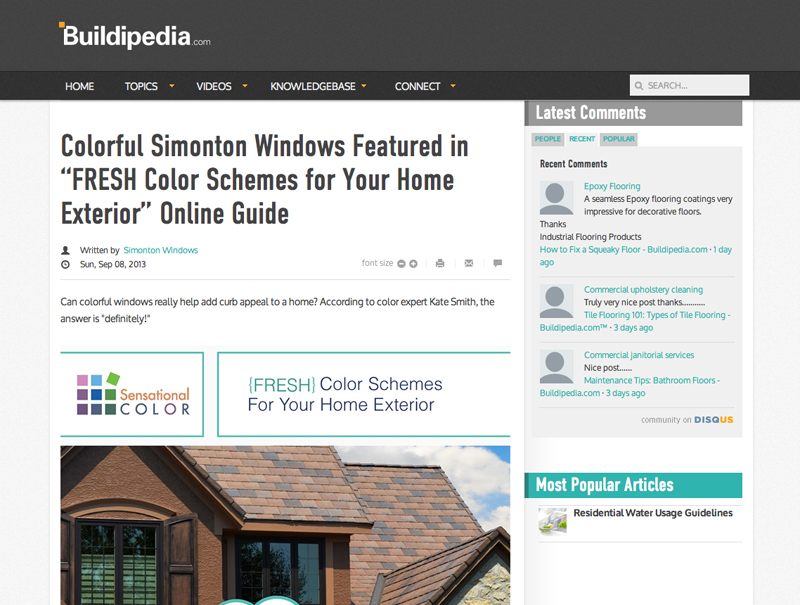 Colorful Simonton Windows Featured In Fresh Color Schemes