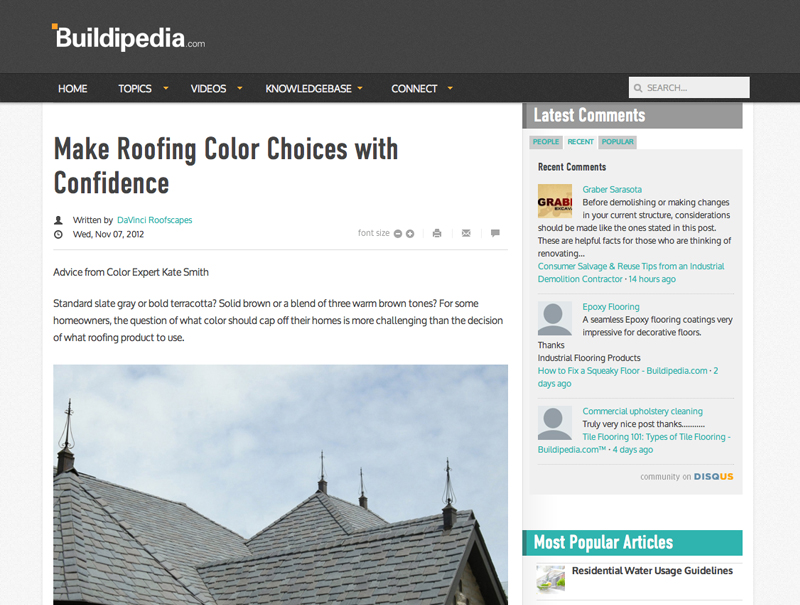 Make Roofing Color Choices with Confidence