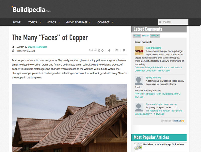 """The Many """"Faces"""" of Copper"""