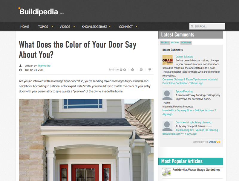 What Does the Color of Your Door Say About You-