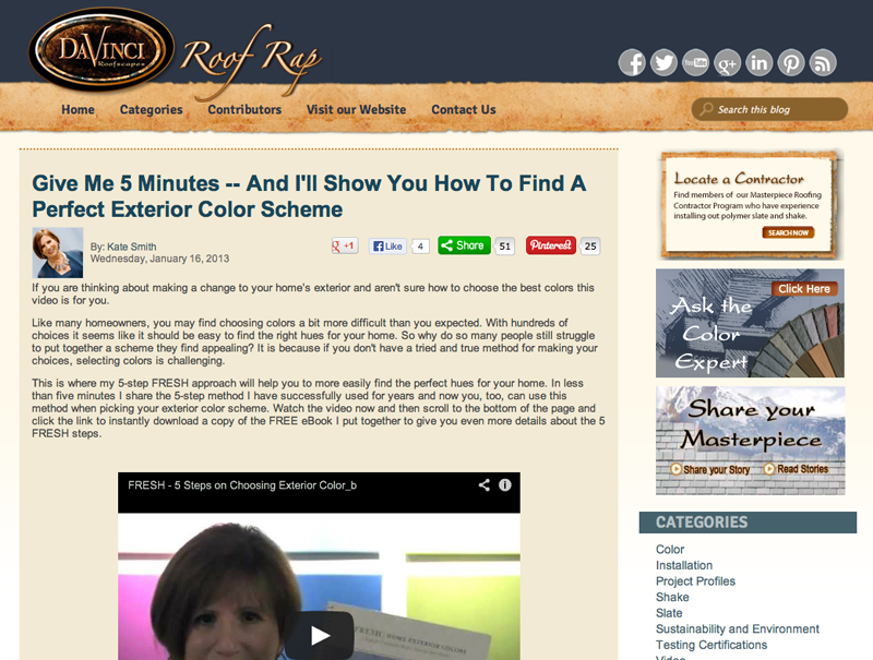 Give Me 5 Minutes -- And I'll Show You How to Find a Perfect Exterior Color Scheme