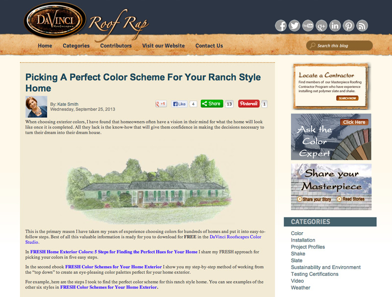 Picking a Perfect Color Scheme for Your Ranch Style Home