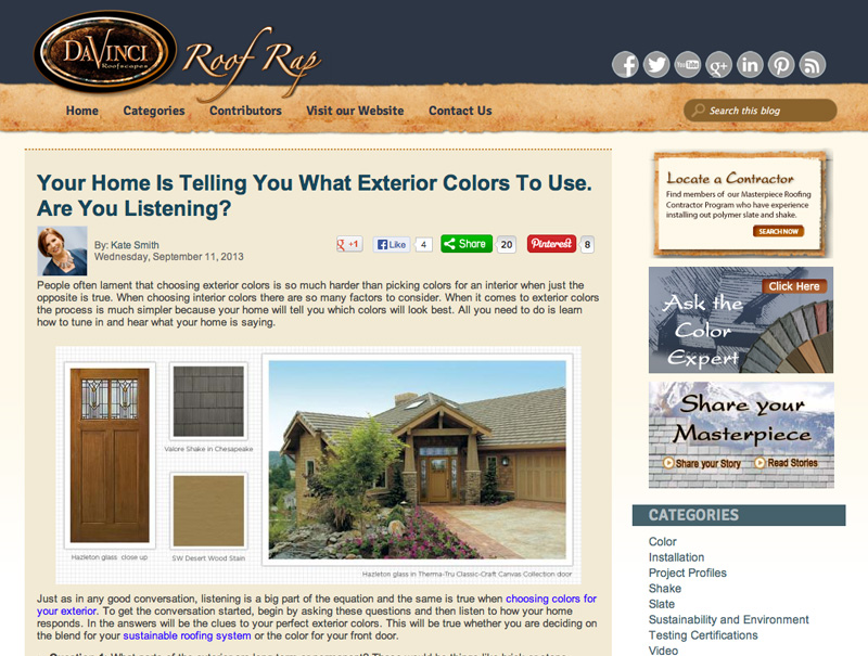 Your Home is Telling You What Exterior Colors to Use. Are you Listening-