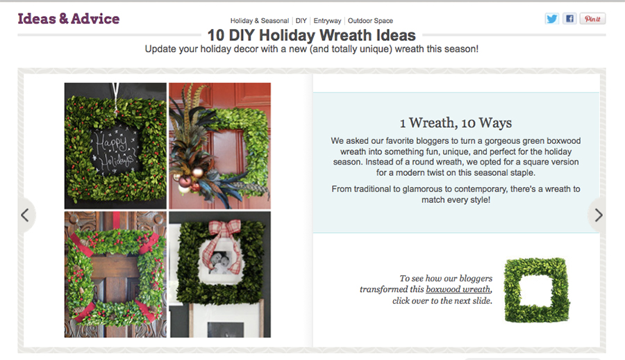 Wayfair Holiday Wreath DIY Ideas