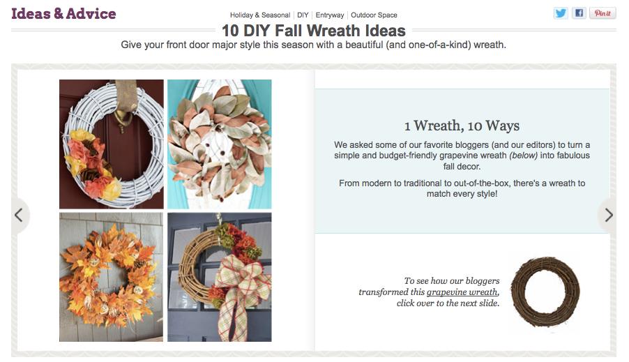 Wayfair 10 DIY Fall Wreath Ideas