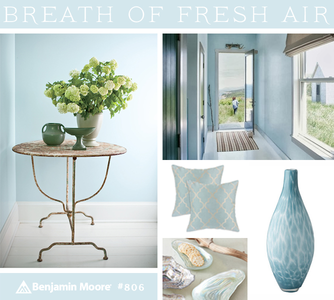 Benjamin Moore Color of the Year Breath of Fresh Air