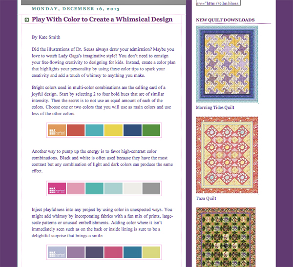Free Spirit Fine Quilting Fabrics | Play With Color To Create A Whimsical Design