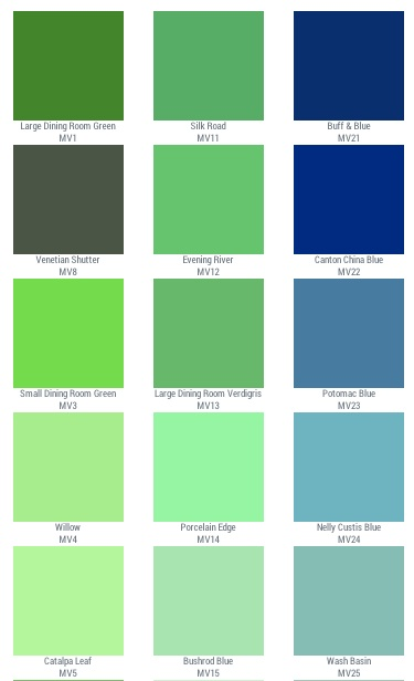 historic color mount vernon green sensational color