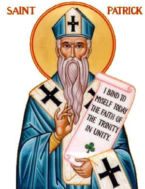 Image result for saint patrick, blue