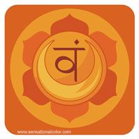 Colors of the Chakras Svadhisthana Orange