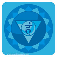 Colors Of The Chakras Visuddha Blue