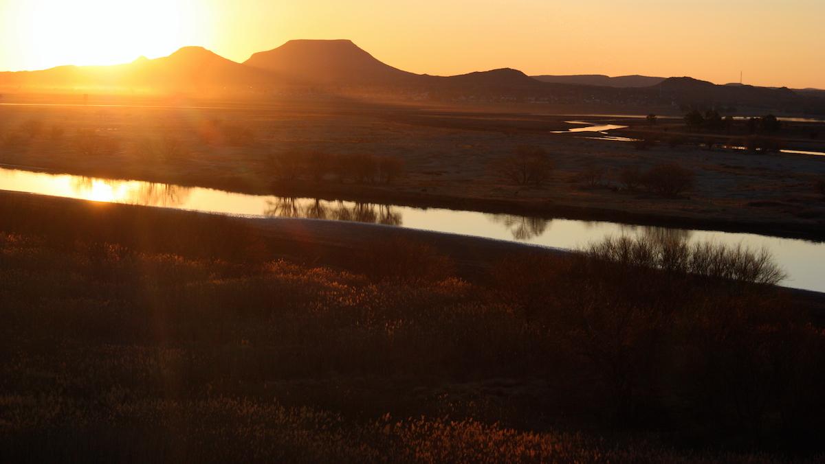 Orange River- Sunset View From The DH Steyn Bridge