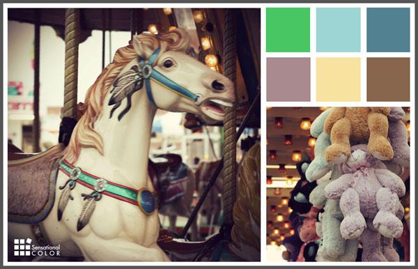 Color Scheme Inspiration Vintage Carnival