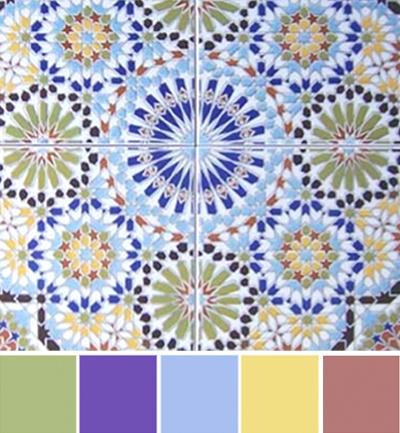 Cultural Color Schemes-Moroccan