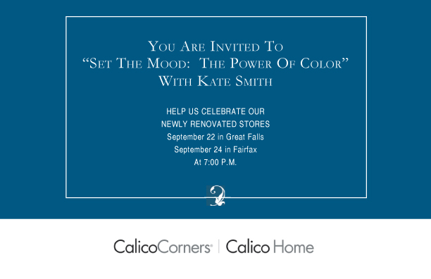 Kate Smith Invitations To Color Event At Calico Corner