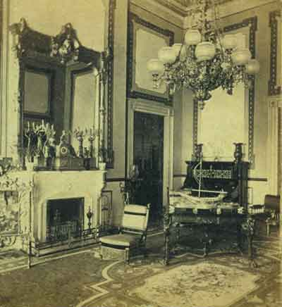 Iconic Red Room In The White House From Grant's Presidency