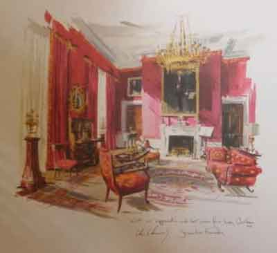 Iconic Red Room On Kennedy's 1962 Holiday Card