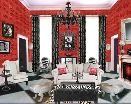 The Iconic Red Room Sensational Color