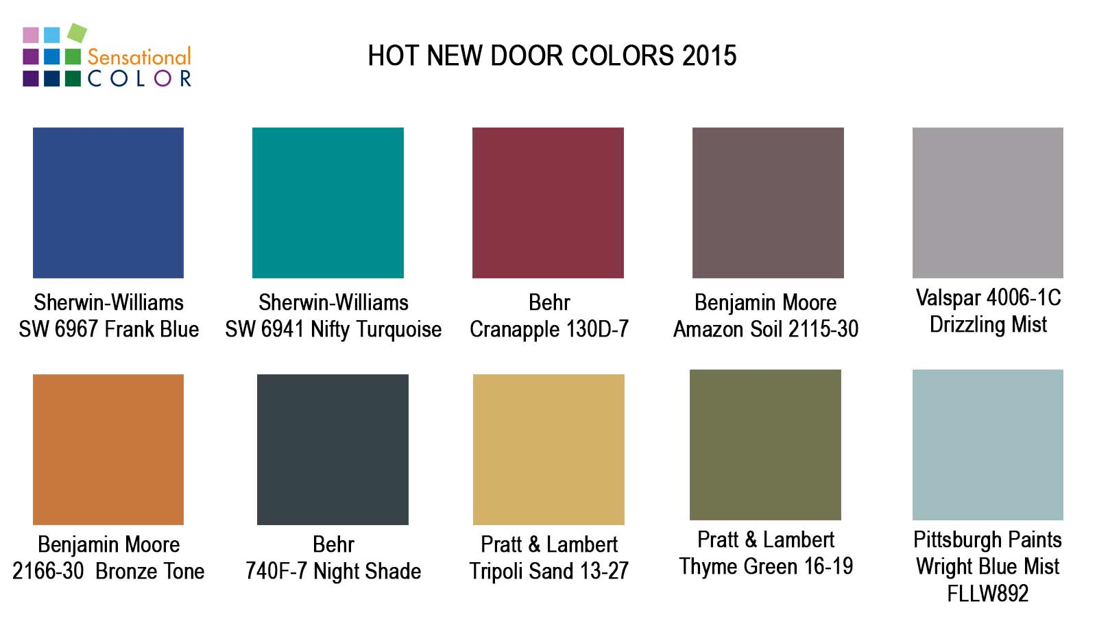Hot New Door Colors For - Best front door colors