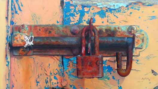Learn To See Colors -- Bonnie Auten Old Lock