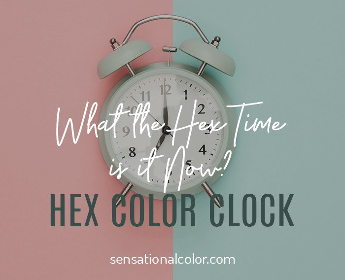 Hex Color Clock