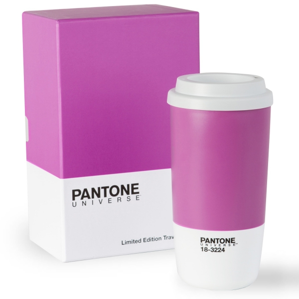 Pantone Travel Mug in Radiant Orchid
