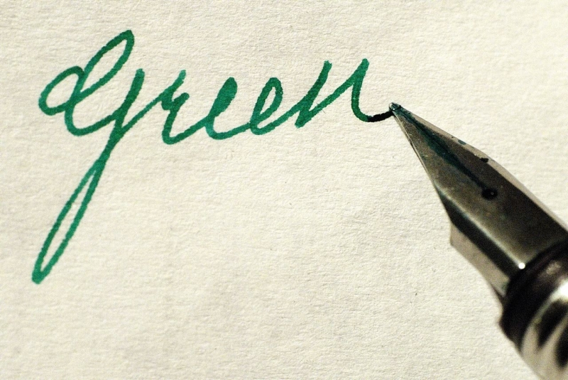 Green Color Ink And Memory