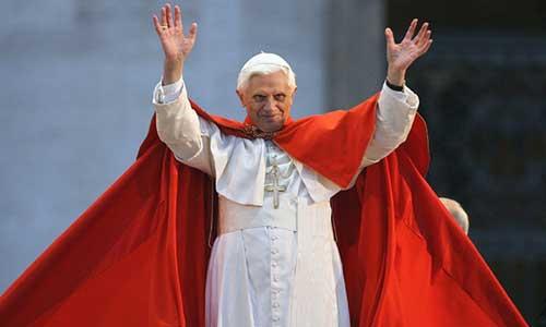 Pope Benedict XVI Red Cape