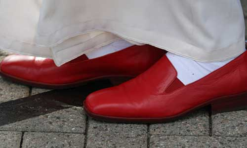 Pope Benedict XVI Red Shoes