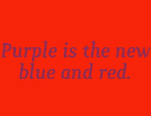 Color Theory Fun - Purple Is The New Red And Blue