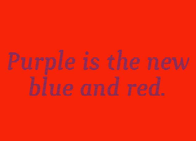 Fun Color Theory - Purple Is The New Red And Blue