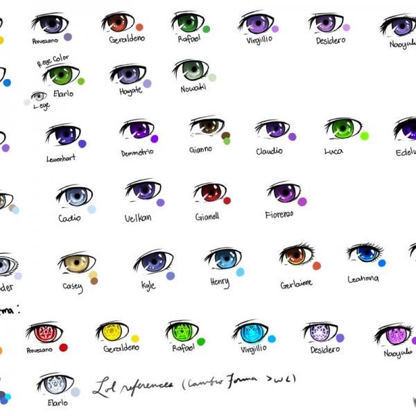 Eye Love You Color Chart
