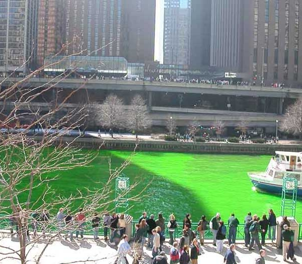St. Patrick's Day Tradition Turning The River Green