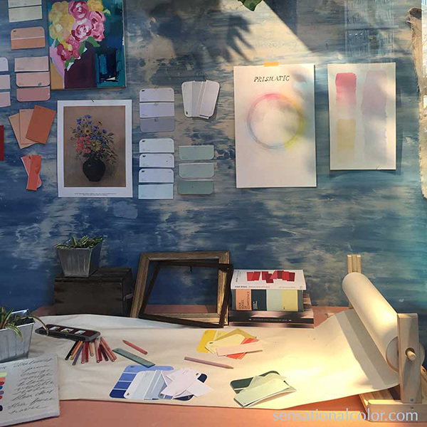 Why Color? in Anthropologie Windows With Color Wheel and Color Swatches