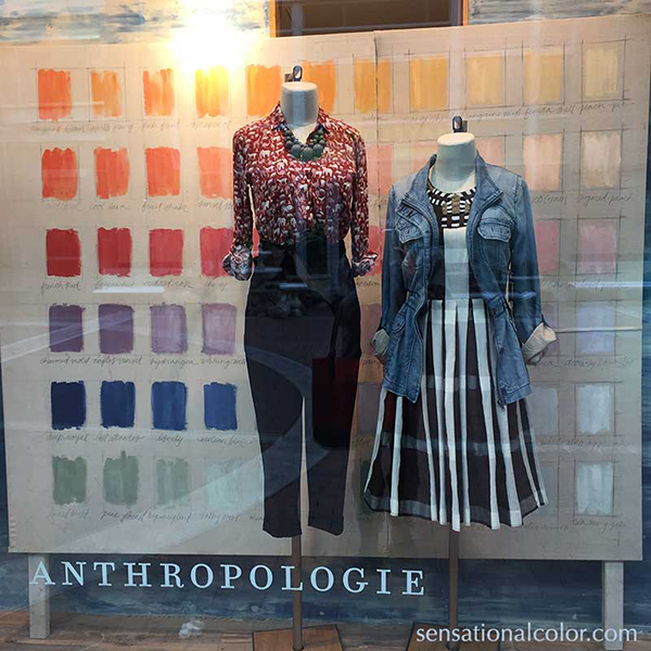 Why Color? in Anthropologie Windows Reston Town Center
