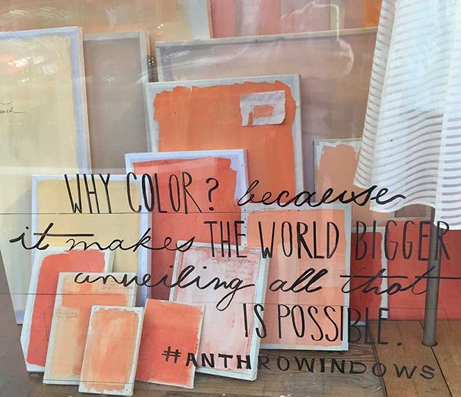 Why Color Quote On Anthropologie Windows