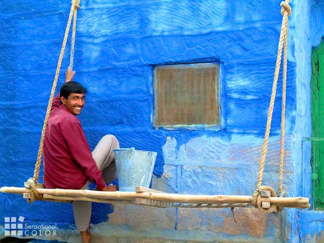 Painter in the Blue City of Jodhpur, India