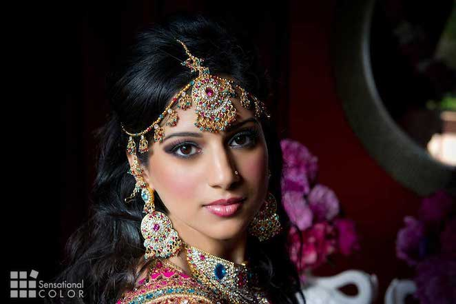Gorgeous Indian Bride Wearing Symbolic Colors