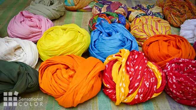 Symbolic Colors of India seen in the turbans men wear.