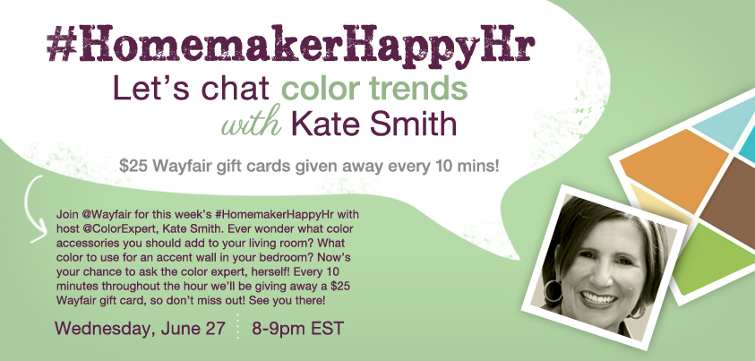 Wayfair Homemakers Happy Hour with Kate Smith