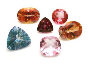 A variety of topaz colors
