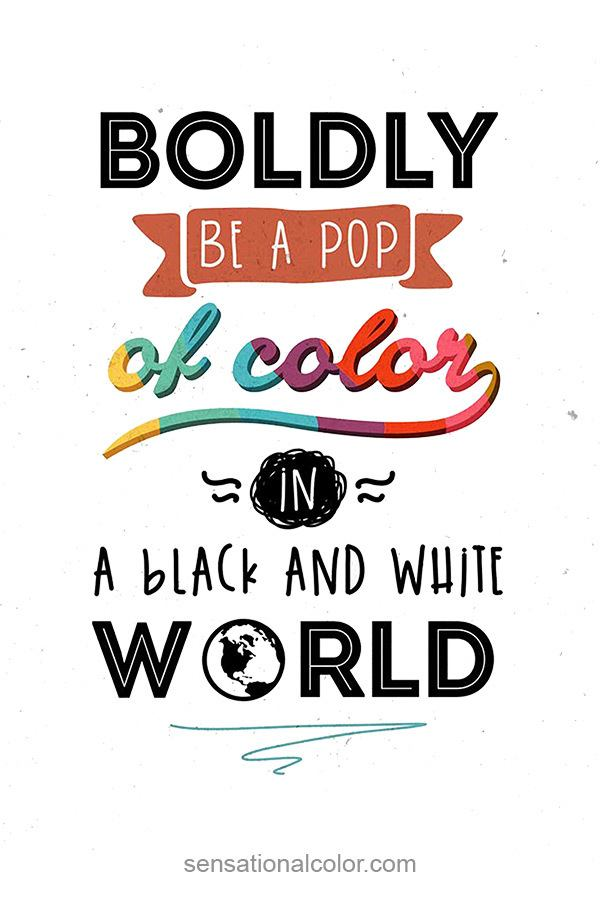 Pop of Color Quote