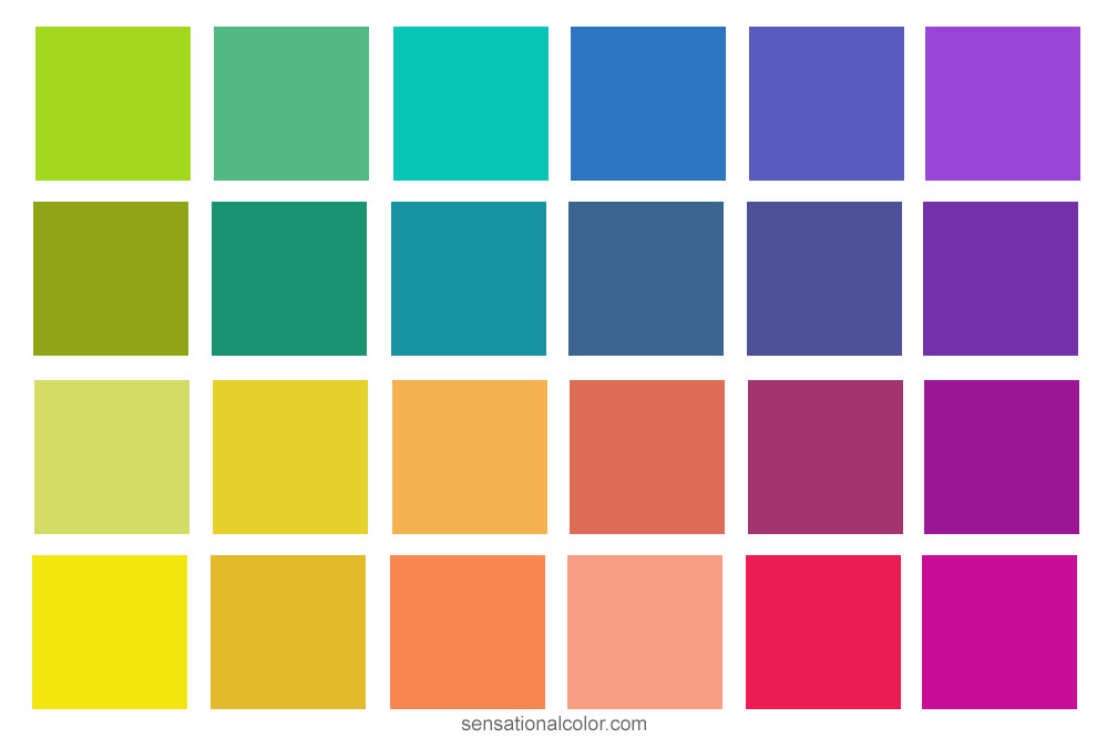 hue value chroma of individual colors