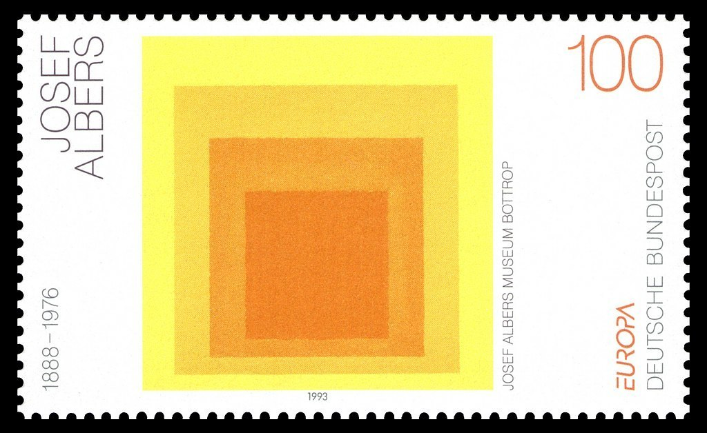 Albers painting on postage stamp