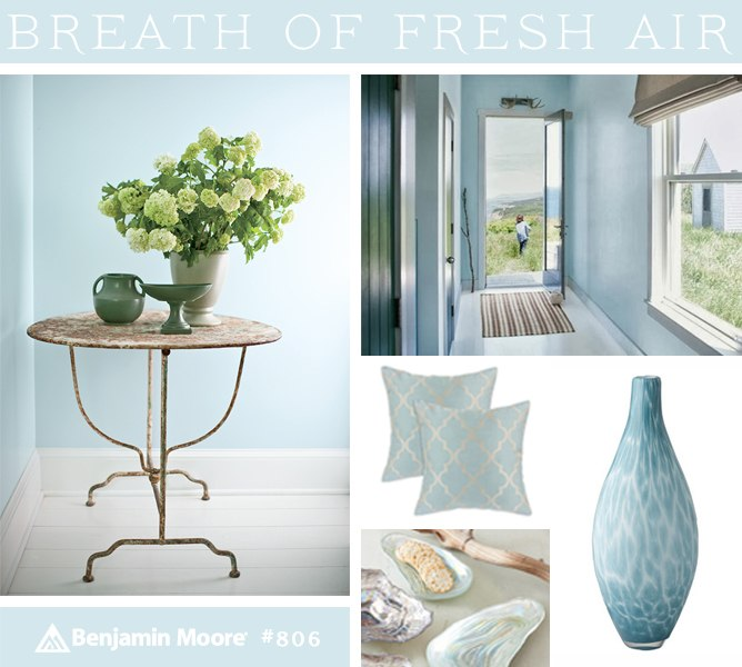 Color of the Year 2014 Benjamin Moore Breath of Fresh Air