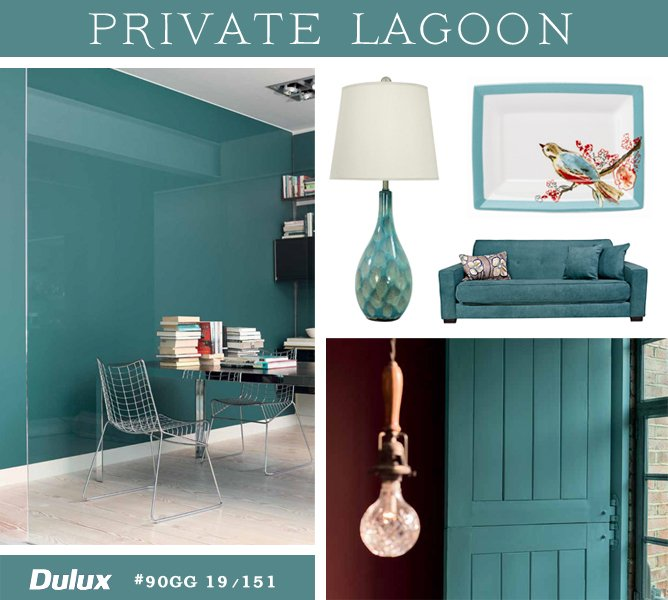 Color of the Year 2014 Dulux Private Lagoon