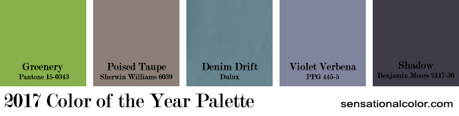 Color of the Year 2017 Palette