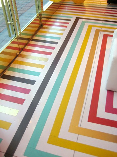 Striped Floor at Kate Spade