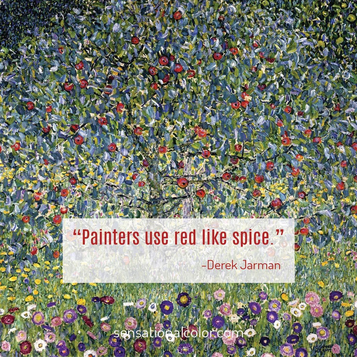"""Painters use red like spice."" - Michael Derek Elworthy"