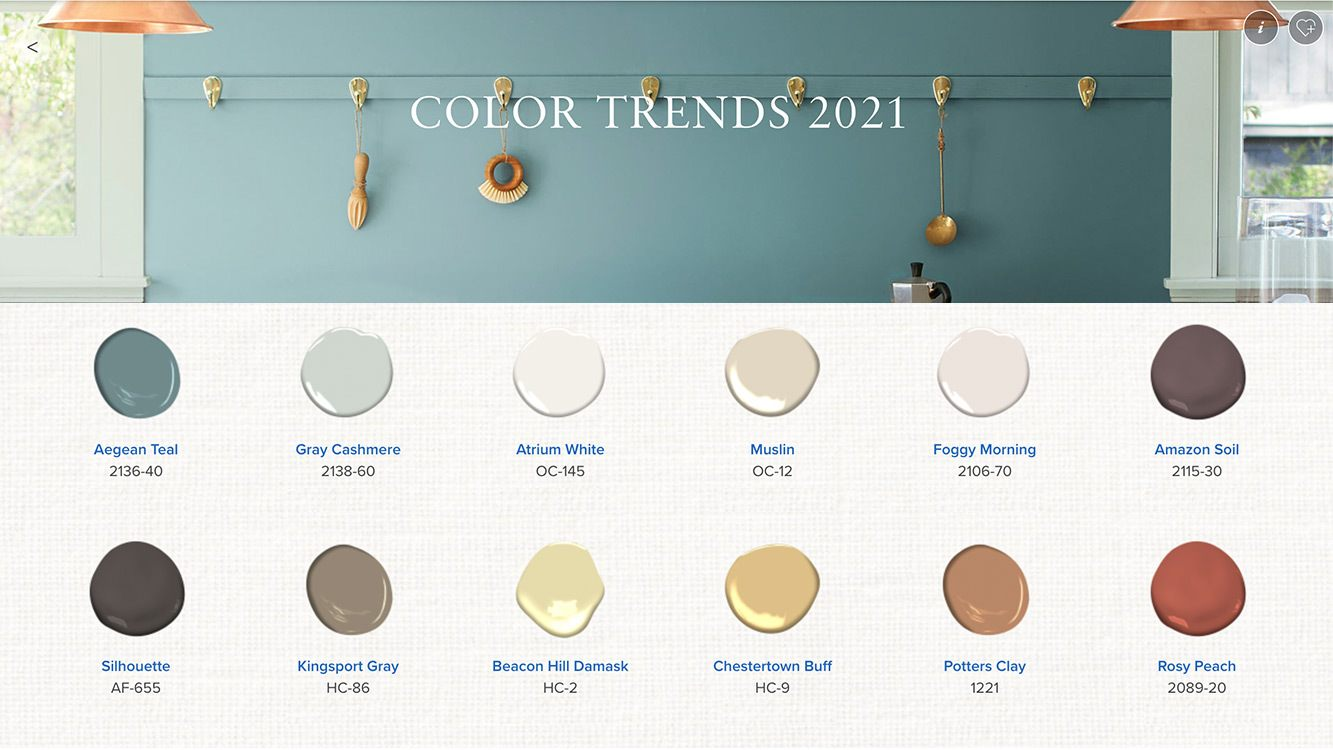 Benjamin Moore Color Trends 2021